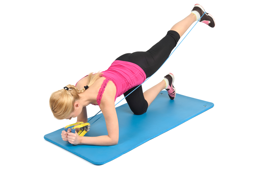 resistance band ab exercise