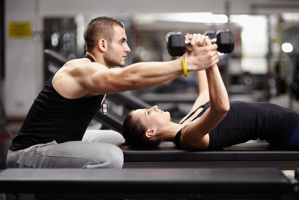 resistance training at gym