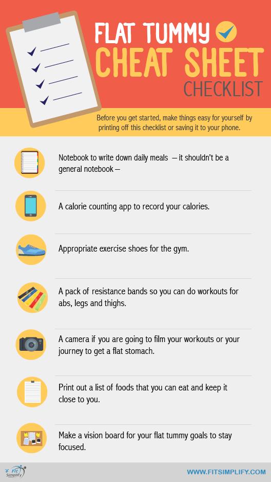 Flat Stomach Diet Checklist